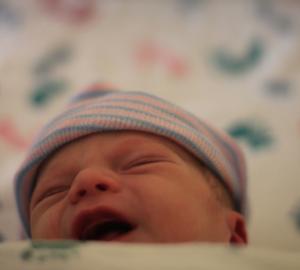 new baby after normal labor contractions and birth