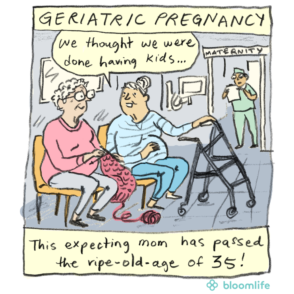 geriatric pregnancy cartoon